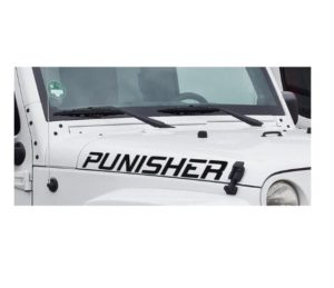 Punisher Jeep Hood Set decal sticker