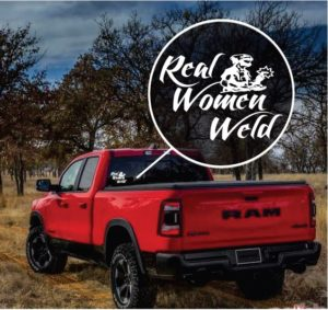 Real Women Weld Window Decal Sticker