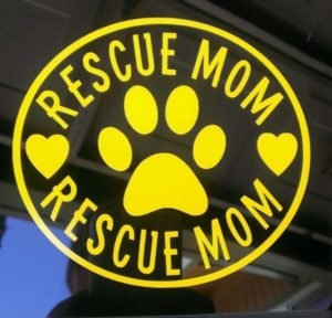 Rescue Mom Animal Stickers - https://customstickershop.us/product-category/animal-stickers/