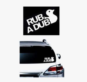 Rub a Dub JDM Decal - https://customstickershop.us/product-category/jdm-stickers/