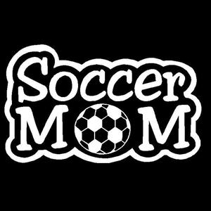 Soccer Mom A Vinyl Decal Stickers - Soccer custom vinyl decals for car windows