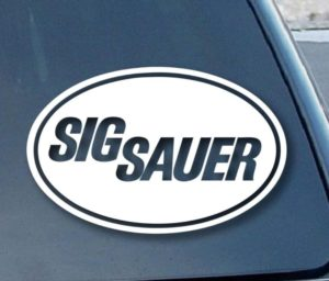 Sig Sauer Firearms Stickers for cars