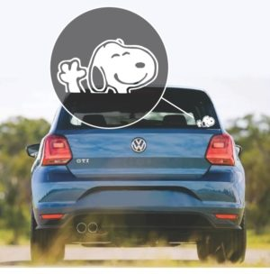 Snoopy Waiving Window Decal Sticker