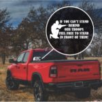 Stand Behind Our Troops Military Window Decal Stickers