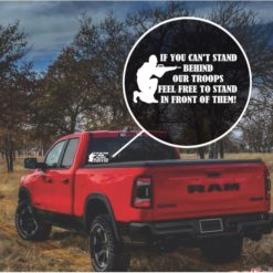 Stand Behind Our Troops Window Decal Sticker