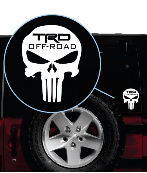 Toyota trd punisher decal sticker