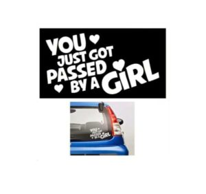 Passed by a Girl JDM Stickers - https://customstickershop.us/product-category/jdm-stickers/