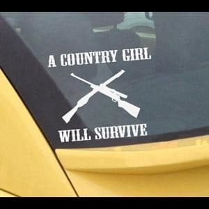 Country Girl Will Survive Decal