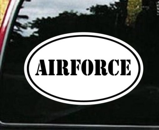 Air force Window Decal Oval