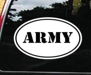 Army Window Decal Oval