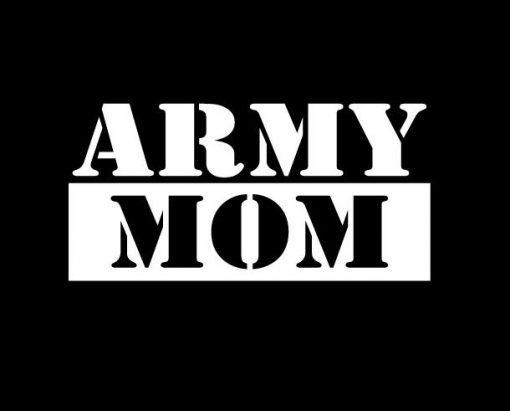 Army Mom Window Decal Sticker
