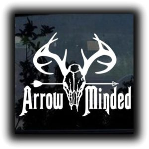 Arrow minded hunting decal sticker