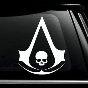 Assassins Creed Skull Window Decal