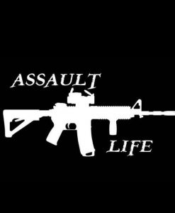 Assault life 1 Vinyl Decal Stickers