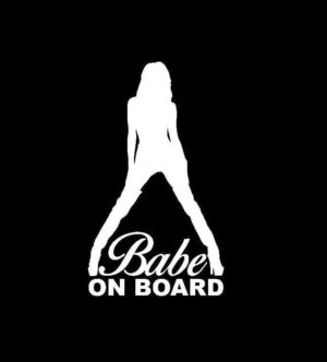 Babe on Board Decal sticker - https://customstickershop.us/product-category/stickers-for-cars/
