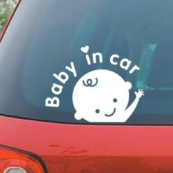 Baby in car window decal stickers