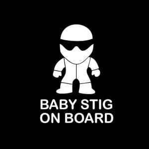 Baby Stig On Board Window Decal
