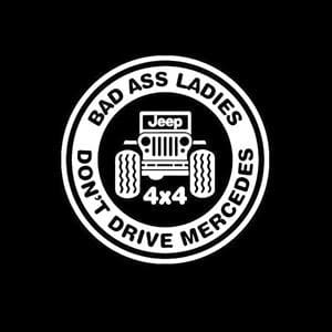 Jeep Decal Bad Ass Ladies Mercedes