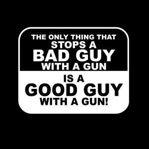 Bad Guy Good Guy Gun Decal