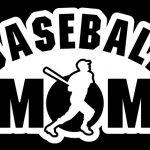 Baseball Mom Batter Decal Sticker