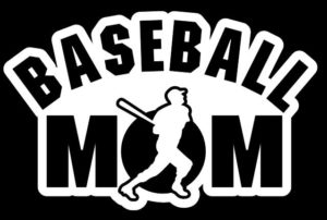 Baseball Mom Batter Decal Sticker