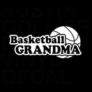 Basketball Grandma Window Decal