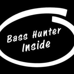 Bass Hunter Inside Decal Sticker