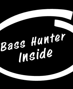 Bass Hunter Inside Decal Sticker