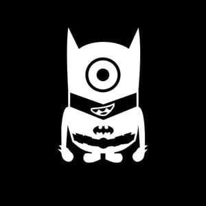 Minion Batman Window Decal