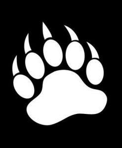 Bear Paw Window Decals - //customstickershop.us/product-category/animal-stickers/