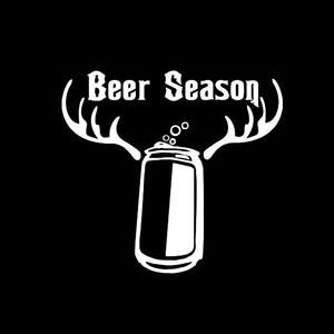Beer Season Funny Window Decals