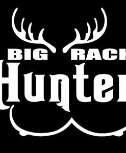Big Rack Hunter Funny Hunting decals