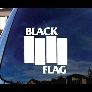 Black Flag Band Window Decal