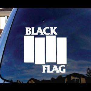 Black Flag Band Window Decal