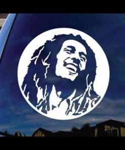 Bob Marley Music Window Decal