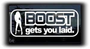 Boost gets you laid JDM Stickers