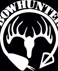 Bow Hunter Deer skull Decal Sticker