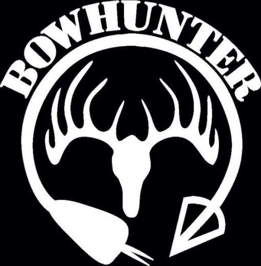 Bow Hunter Deer skull Decal Sticker