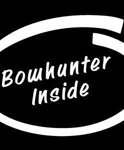 Bow Hunter Inside Decal Sticker