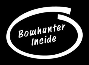 Bow Hunter Inside Decal Sticker