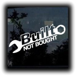 Built Not Bought Wrench Truck Stickers