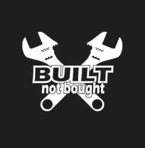 Built Not Bought Wrenches Decal - https://customstickershop.us/product-category/truck-decals/