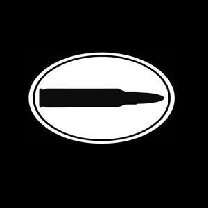 Bullet Oval Guns Window Decal
