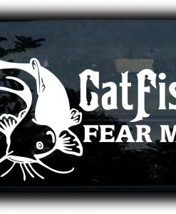 Catfish Fear Me fishing decal sticker