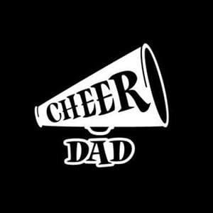 Cheer Dad Car Decal Stickers