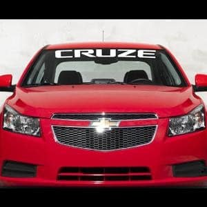 Vinyl Windshield Banner Decal Stickers Fits Chevy Cruze - Car windshield decals