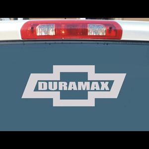 Chevy Duramax Bowtie Truck Decal Stickers - Chevy bowtie rear window decal