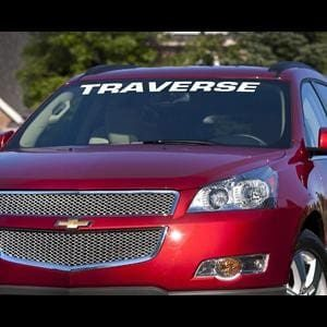 Chevy Traverse Windshield Decals - https://customstickershop.us/product-category/windshield-decals/
