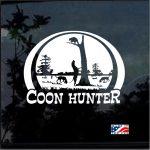 Coon Coon Hunter Scene Hunting Window Decal Sticker