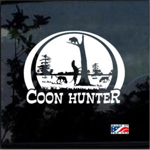 coon hunter scene truck decal sticker